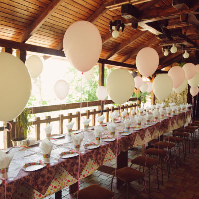 table balloons communie